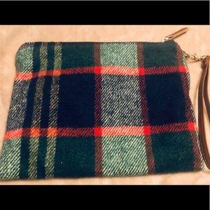 Vintage wristlet purse pretty plaid